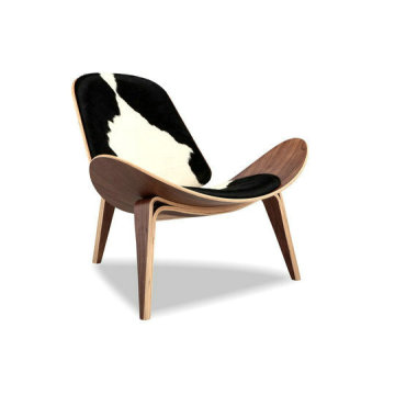 Purchasing for Lounge Chair Replica Wegner Shell chair pony cowhide leather lounge chair supply to South Korea Suppliers