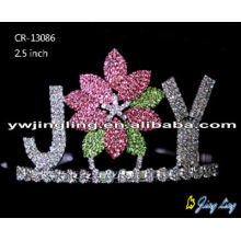Beauty Pink Crystal Flower Princess Tiara