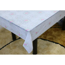 Printed pvc lace effect tablecloth by roll