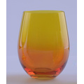 Ombre Colored Stemless Glass For Sale