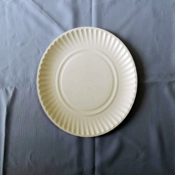 "8.5' 9"" Paper Plates Embossed Design White"