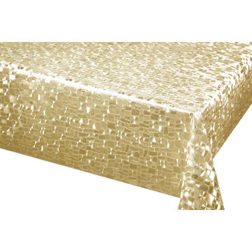 Silver Gold dye Fabric Backing Tablecloth