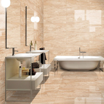 Large format bathroom tiles white