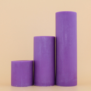 Purple Color Church Unscented Fluted Candles