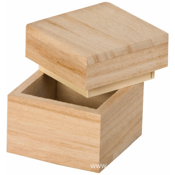 Beige Square Mini Wooden Box Mini Wooden Box Square