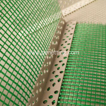 Perforated PVC Corner with Fiberglass Mesh Bead