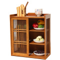 Good price kitchen food cabinet solid wood cabinet design wooden cabinet
