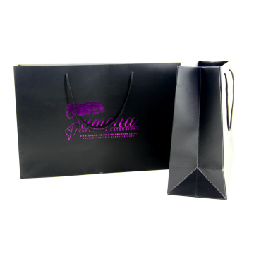 Custom Logo Fashion Shopping Hot-stamping Paper Bag