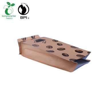 Flat Bottom Side Gusseted Biodegradable Coffee Packaging Bags