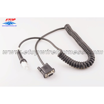 Flame resistant PUR Coiled cable