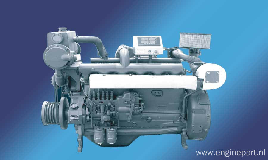 Supply Cheap 4 stroke Water-cooled Direct Injection 80-225kw/Ricardo R105 Marine Engine