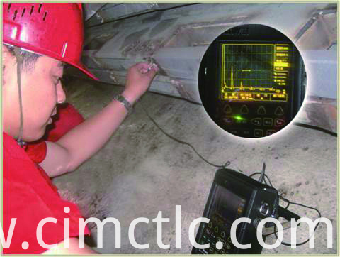 Ultrasonic test for Low Noise Container Integrated Type