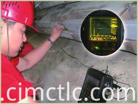 Ultrasonic test for Battery Container Integrated Type