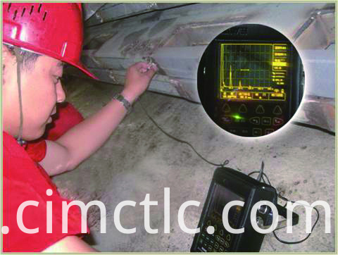 Ultrasonic test for Solar Container Integrated Type