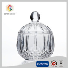 High definition for Candy Jars Handmade clear glass candy jar export to South Korea Manufacturer