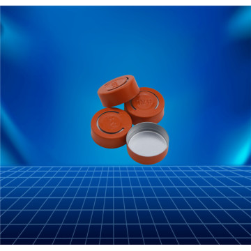orange aluminium cap for contact lens