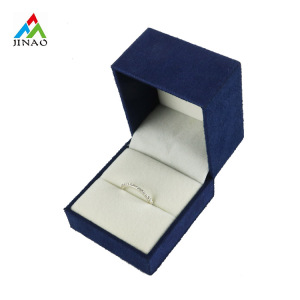 ODM for China Rectangle Jewelry Box,Classic Rectangle Jewelry Box,Jewelry Gift Box Supplier Unique Design Matte Suede Leather Small Ring Box supply to Uruguay Suppliers