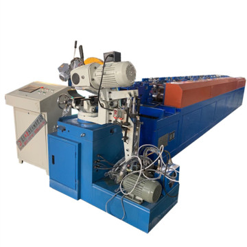 Hydraulic steel downspout square pipe forming machine