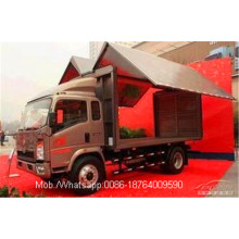 Leading for Special-Purpose Vehicle,Special Vehicles,Special Dump Truck Manufacturers and Suppliers in China 5 Ton Light Duty Mobile Stage Truck supply to Marshall Islands Factories