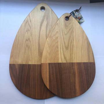 Oak wood chopping board with hole