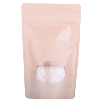 Laminated Material Clear Window paper 8oz food Bag Supplier From China