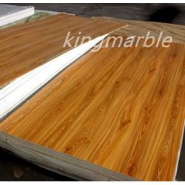 pvc imitation wooden texture panel for interior decoration