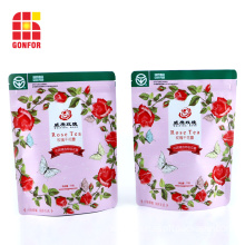 custom printed resealable bags tea bags