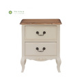 Ivory White Solid Wood Frame Night Stand