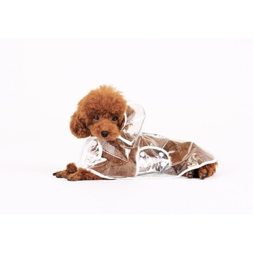 Dog Clothes transparent raincoat dog raincoat with hood