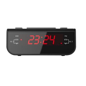 AM/FM Digital Alarm Clock with Dual Alarm Buzzer Snooze Sleep Function Red LED Time Display