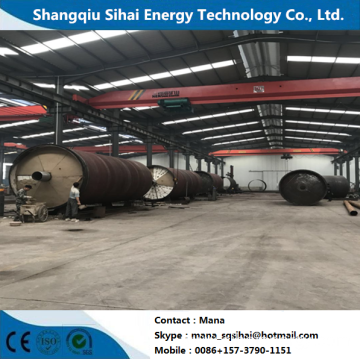 Used rubber as raw material refining pyrolysis equipment