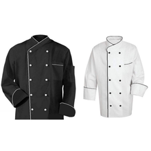 Cotton Chef Coats with Piping-long sleeves