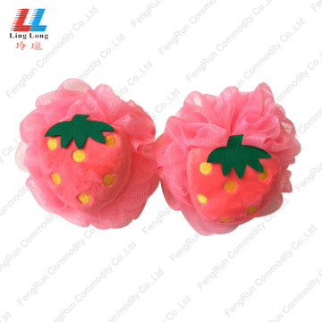 Strawberry mesh foaming bath ball