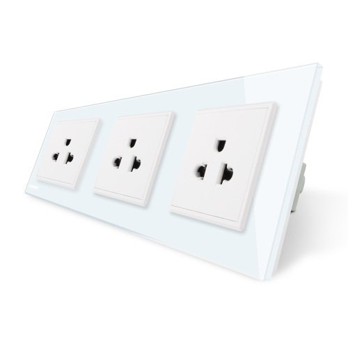 Wall Mounted Plastic Power Socket White Injection Mould