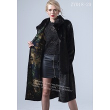 Factory directly provided for China Women Mink Fur Coat,Mink Wind Coat,Black Mink Fur Coat Supplier Luxurious Black Mink Coat supply to India Manufacturer