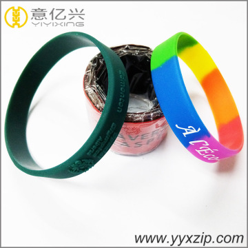 Custom reflective silicone slap and segmented bracelet
