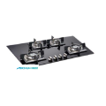 แก็บ Toughened Black Glass Gas Hob