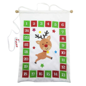 Christmas advent calendar with snowman and reindeer image