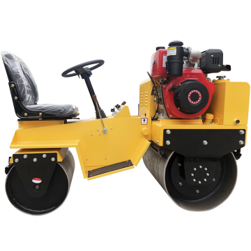 ride on variable pump double drum road roller
