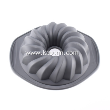 Shallow Silicone Flute Bundt Khuôn Pan
