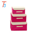 Fabric storage organizer box home non woven storage organizer