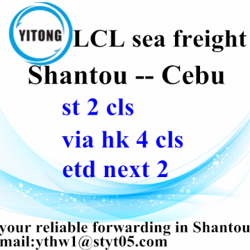 New Fashion Design for Sea Freight LCL Combined Transport Shipping from Shantou to Cebu supply to United States Wholesale
