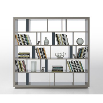 Ordinary Discount for Wooden Bookcase Modern Grey Lacquer Room Divider export to India Supplier