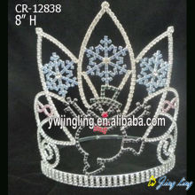 Cute Snowman Snowflakes Christmas Crown Tiara
