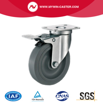 4'' Swivel Medium Duty Industrial TPR Caster With PP Core With Brake