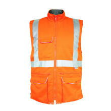 Flame retardant orange bodywarmer