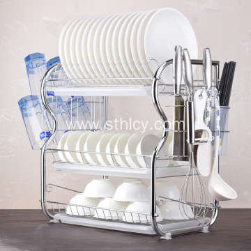 Stainless Steel Kitchen Bowl Plate Dish Storage Rack