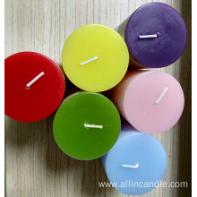 7.5cm colored paraffin wax candle