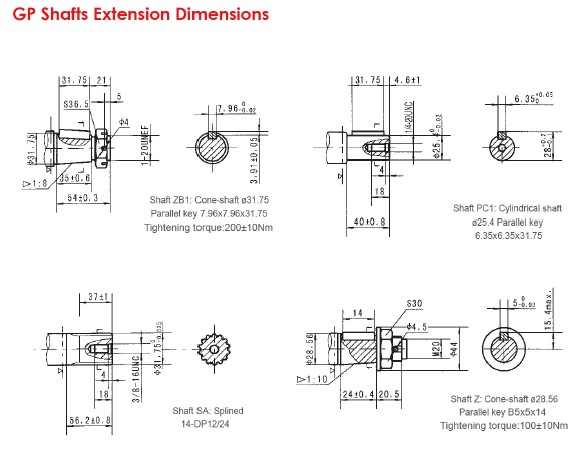 GP Shafts Extension Dimensions-1