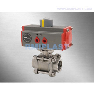 Pneumatic 304 Ball Valve Double Acting Spring Return